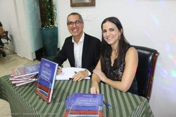 Os editores em noite de autógrafos - livro Doppler das Artérias carótidas e Vertebrais